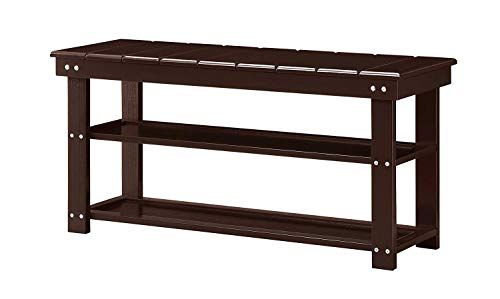 Convenience Concepts Oxford Bench, Espresso (Room Mud Spaces Small Designs)