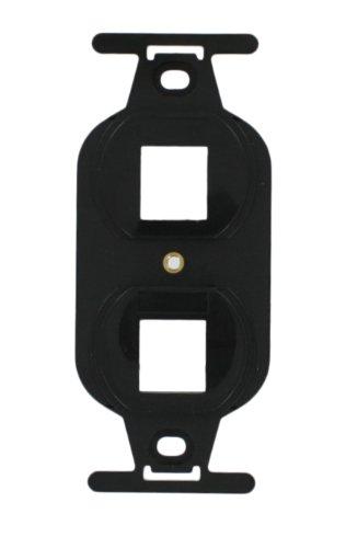 Leviton 41087-2EP QuickPort Duplex Type 106 Insert, 2-Port, Black