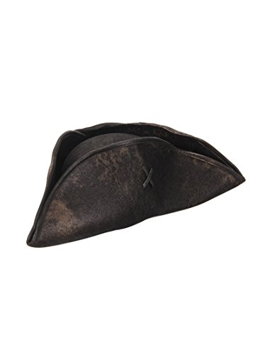 Tricorne Hat (elope Scallywag Hat, Brown/Black, One Size)