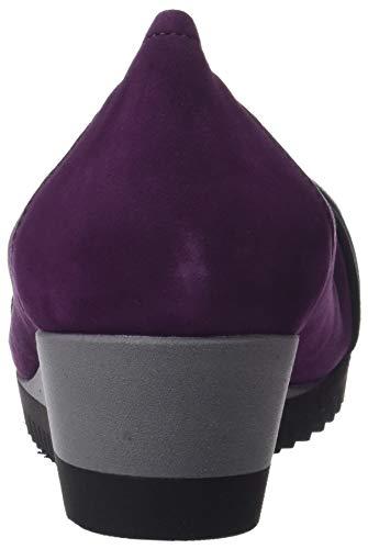 Fermé Quebec Bout 018 gris Sabrinas Ballerines purpura Femme negro Violet qtSvSwpda