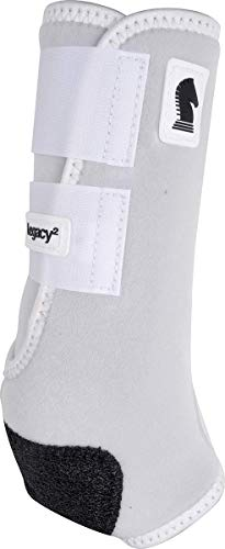 Classic Equine Legacy2 System Hind Boot (Solid), White, Medium - Hind Horse Boots