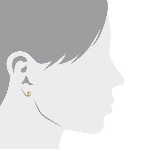 Diamond Line - 113315 - Boucles d'Oreille Femme - Bicolore 9 Cts 375/1000 2.5 Gr - Diamant