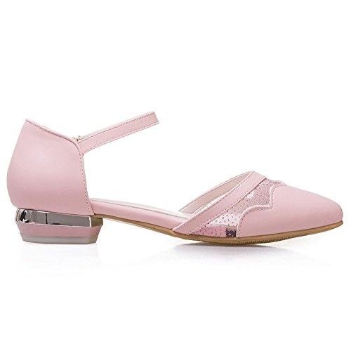 Shoes Ballet Sweet TAOFFEN 109 Women Pink D'orsay Flats Casual Ankle Strap Pumps wRqB6a