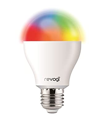 Revogi Smart Color LED Bulb LTB211 RGBW Dimmable Bluetooth 4.0 Low Energy Wireless Lightbulb, Android 4.3+ iOS 6+, E26, 8 Watt (60 Watt Replacement), Energy Class A+ Light, Schedule, Anti-Burglar Mode