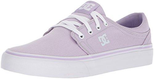 DC Women's Trase TX Skate Shoe, Lilac, 8 B US by DC