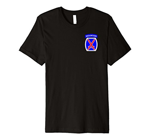 10th Division Mountain Infantry (Mens 10th Mountain Division Army Infantry Military Soldier Shirt XL Black)