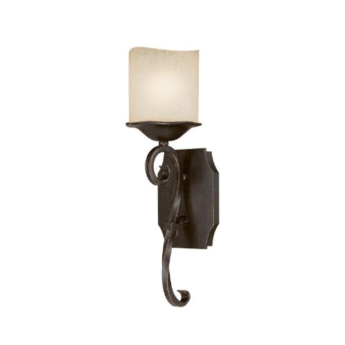 Capital Lighting 8431RM-205 Wall Sconce with Candlelight Glass Shades, Raw Umber Finish (Light Raw Umber)
