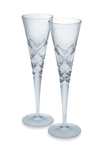 Heart Champagne Flute Glass Set