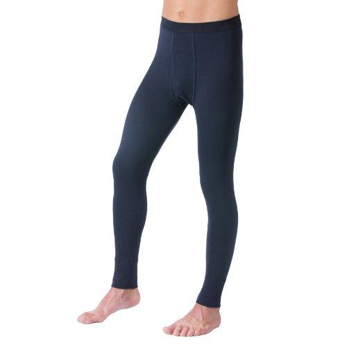 HERMKO 3540 Herren lange Unterhosen mit Eingriff und Weichbund aus 100% Baumwolle in Feinripp, verschiedene Farben, Farbe:marine, Größe:D 6 = EU L