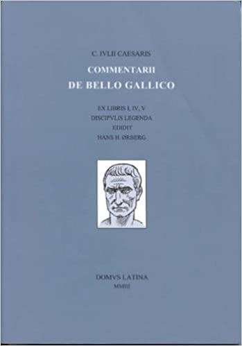 Caesaris Commentarii De Bello Gallico Bk 1 Lingua Latina By Hans Orberg 2003 01 01 Hans Orberg Amazon Com Books