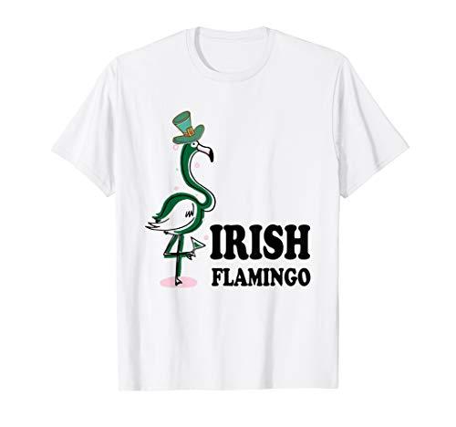 Funky Irish Flamingo Apparel Green Bird St Pattys Day Tshirt