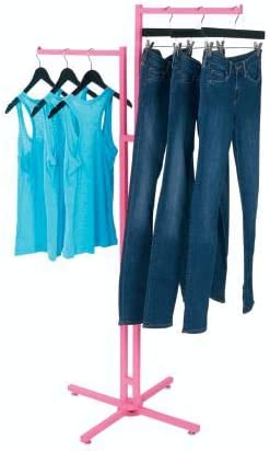 SSWBasics Hot Pink 2-Way Clothing Rack with Straight Arms