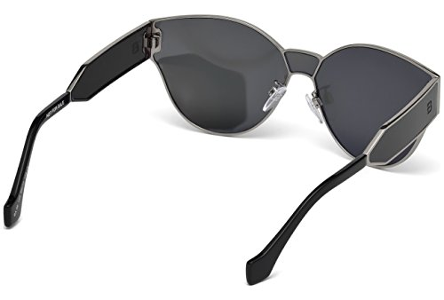 Balenciaga BA0096 Semi Shiny Dark Ruthenium/Smoke Fashion Sunglasses