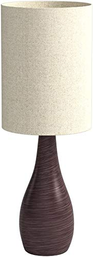 Lite Source LS-22997 Table Lamp with Tan Linen Shades, Bronze Finish