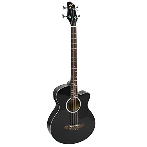 Best Choice Products 22-Fret Full Size Acoustic Electric Bass Guitar w/ 4-Band Equalizer, Adjustable Truss Rod, Solid Construction - Black (Best Cheap Acoustic Electric)