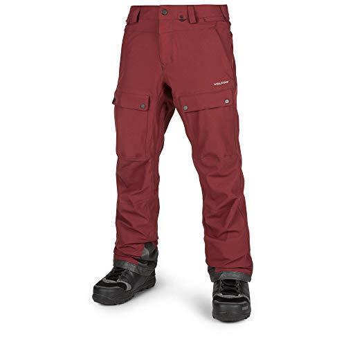 Volcom Men's Pat Moore 2 Layer Stretch Snow Pant, Burnt red - Vent Volcom