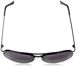 A.J. Morgan R and R Rectangular Sunglasses, Black/Mirror, 60 mm