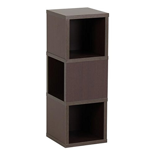 arne 壁掛け棚 ウォールシェルフ コーナーラック 耐荷重5kg 幅25cm 奥行き25cm 高さ71cm 3段 Mサイズ Wall Rack Cube M-3 ダークブラウン B00P0KECKE ダークブラウン ダークブラウン