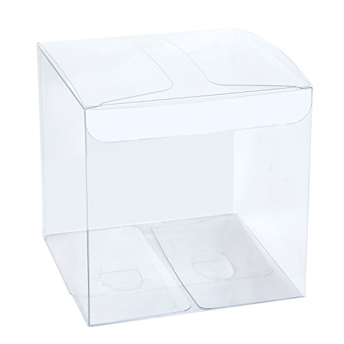 LaRibbons 30Pcs PET Transparent Boxes, Candy Box, Clear Gift Boxes for Wedding, Party and Baby Shower Favors, 4