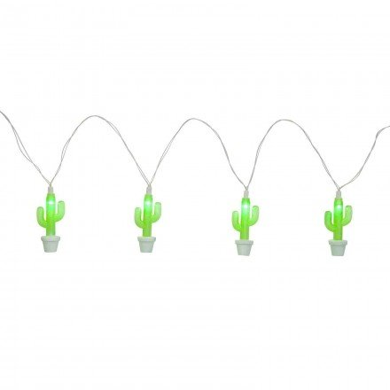 Sunnylife Indoor Outdoor Decorative Lighting 13 Feet Figurine String Lights - Cactus Green by SunnyLIFE