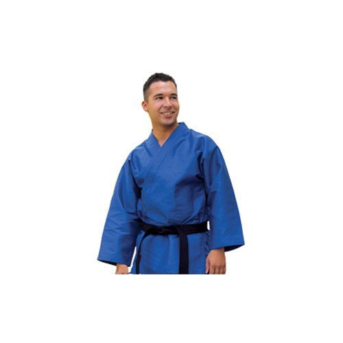 Tiger Claw Traditional Light Weight Karate Uniform Top - Blue - Size 3 by Tiger Claw