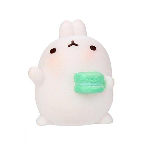 Cute Rabbit Toy, Balakie Kawaii Kids Toy Phone Decor Keychain Key Ring Stress Relieve (One Size, G)