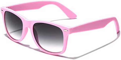 Colorful Retro Fashion Sunglasses - Smooth Matte Finish Frame