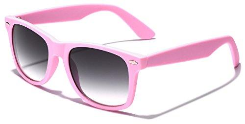 Colorful Retro Fashion Sunglasses - Smooth Matte Finish Frame - - Wayfarer Sunglasses Purple