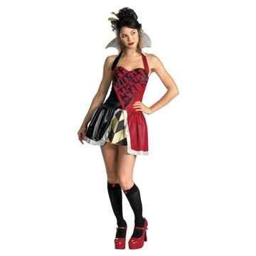 Womens Queen Of Hearts (As Shown;8 To (Disney Alice In Wonderland Queen Of Hearts Costume)