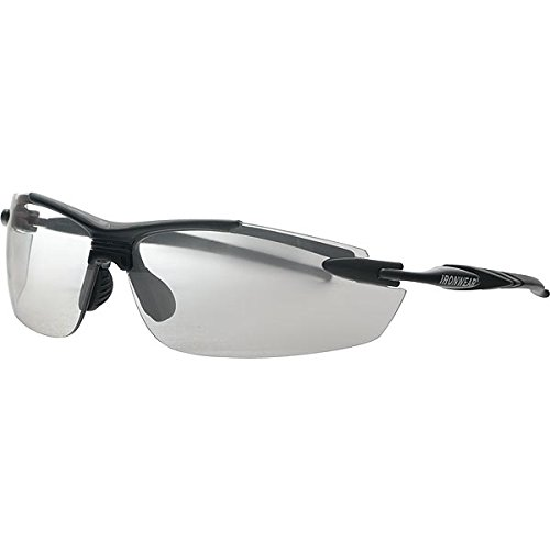 (Ironwear Madison 3006 Series Nylon Protective Safety Glasses, Indoor/Outdoor Mirror Lens, Black Frame (3006-B-IOM))