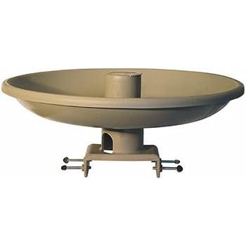 Farm Innovators Model HBI-150 All Seasons Premium Heated Birdbath with Deck Mount & Perch, Tan, 150-Watt