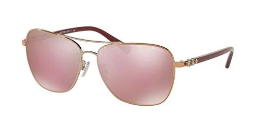 Coach Women's HC7073B Sunglasses Rose Gold/Aubergine / Pink Solid Mirror - Pink Glasses Coach