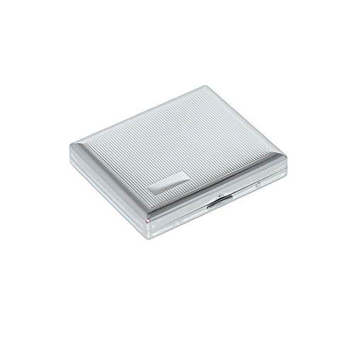 Hard Cigarette Case/Box/Holder Ultrathin Lightweight Exquisite and Portable Carrying (Silver)