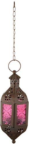 Zings & Thingz 57070470 Cutout Moroccan Hanging Lantern, Black