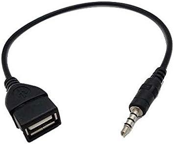 3.5 mm männlich AUX-Audio Stecker auf USB-Buchse Adapter Kabel für Auto Musik