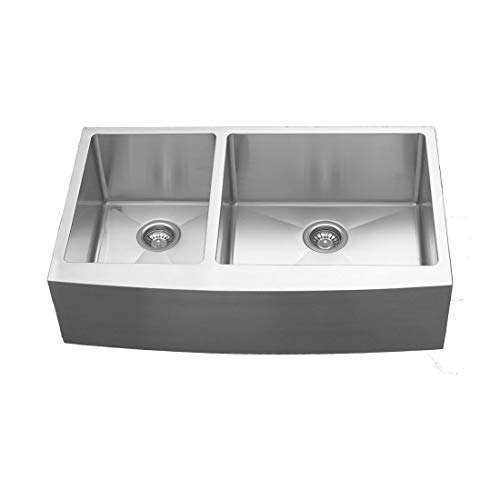 - Elite EL-87 Double Undermount Bowl with Apron Sink