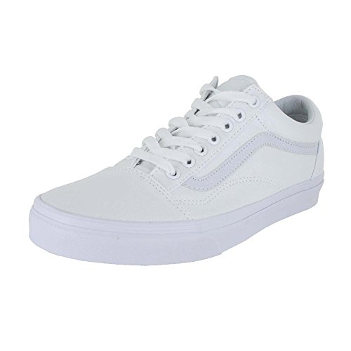 Vans Off The Wall Old Skool Sneakers (True White) Classic Unisex Skate Shoes, 9 Women/7.5 Men