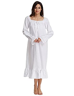 Zexxxy 2017 Winter Women Victorian Nightgowns Cotton Long Princess Robe