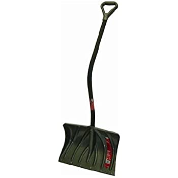 Suncast SC5350 20-Inch Snow Shovel/Pusher Combo with Ergonomic Shaped Comfort Grip Handle, No Stick Graphite Blade, And Wear Strip