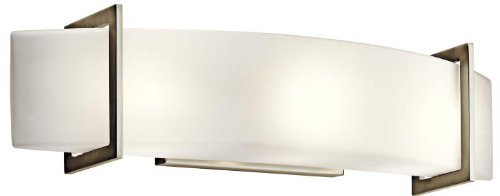 Kichler 45220NI Crescent View Linear Bath 24-Inch, Brushed Nickel