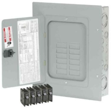 Eaton 125 Amp 12 Spaces 24 Circuits BR Type Main Lug Loadcenter Value Pack Includes 5 Breakers