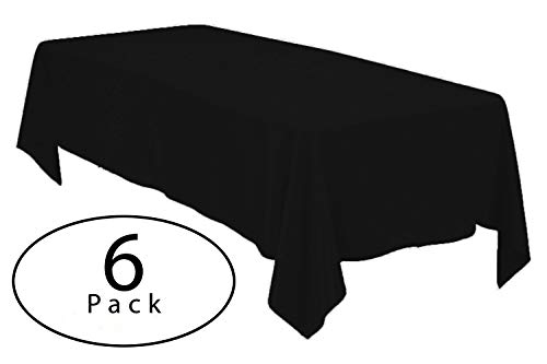 Minel Disposable Party Table Cloths Rectangular 6 Pack Black by Minel