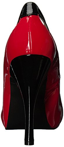 Pleaser Womens Eve07/B-r Black/Red Patent alt2I
