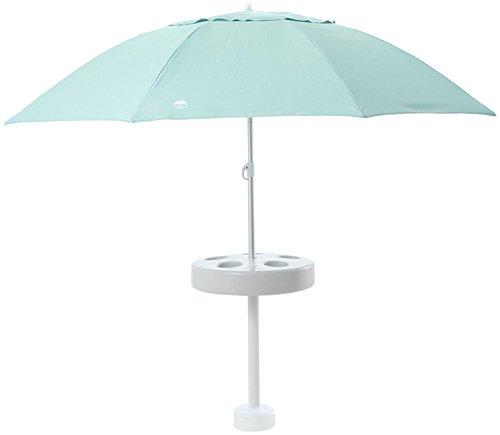 Shade Science Pool Buoy Plus, Floating Umbrella - Sun Shade, Fully Adjustable Sun Blocker, Drink Holder - Coconut Cream