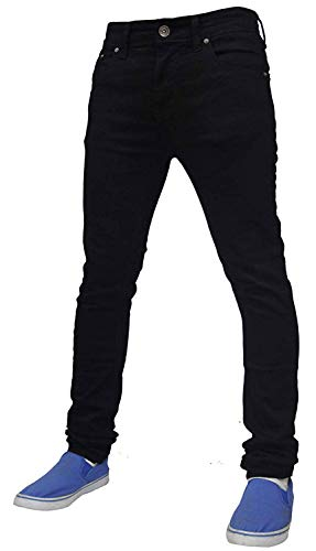 Pour Jeans Face Denim En Black True Extensible Homme Tf021 Skinny E5qxU4wd