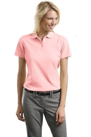 Port Authority Ladies Stain-Resistant Sport Shirt, Light Pink, 4XL