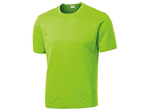 (Clothe Co. Mens Short Sleeve Moisture Wicking Athletic T-Shirt, Lime Shock, S )