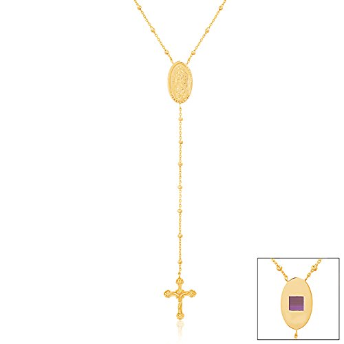 My Bible Religious Gold Cross Rosary ENTIRE New Testament Nano Bible Necklace Gift Box