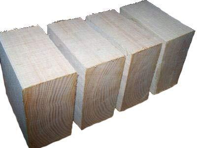 Four (4) Sassafras Bowl Blanks Turning Blocks Lumber Wood Lathe 6 X 6 X 3