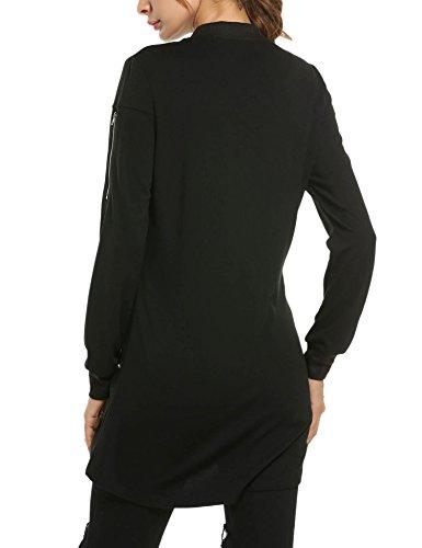 Blouson Manches HOTOUCH Femme Noir Longues Teddy Y6zxzpR